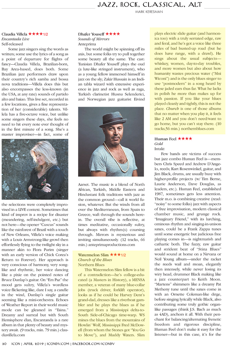 """ICON review of Watermelon Slim's """"Church of the Blues"""""""