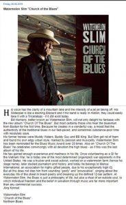 "Watermelon Slim ""Church of the Blues"" review on KultKompott"